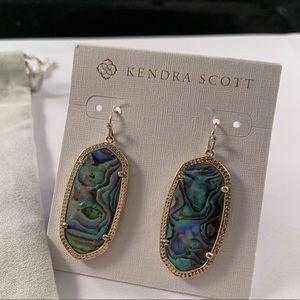 Kendra Scott abalone Elle earrings